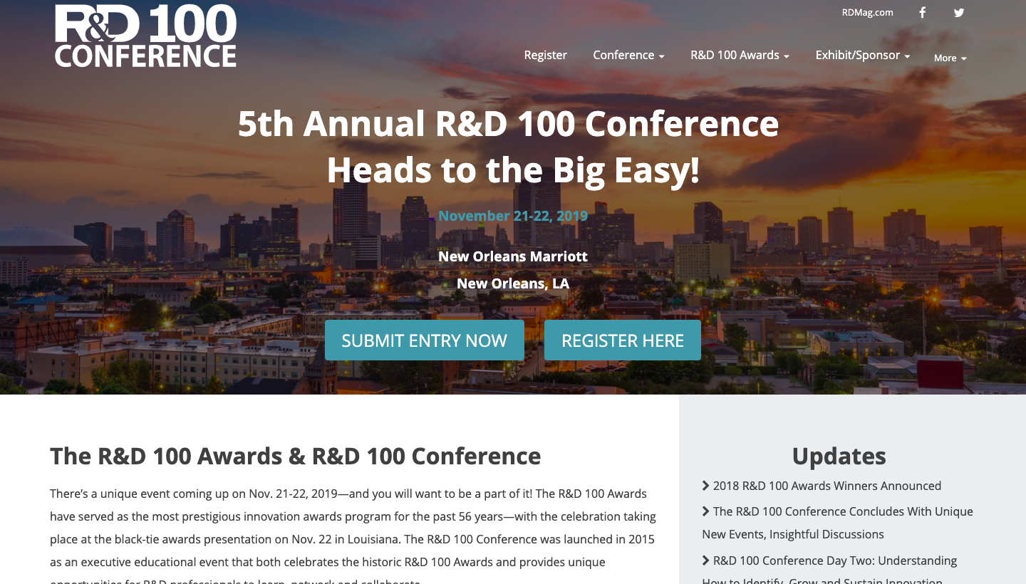 R&D 100 Conference