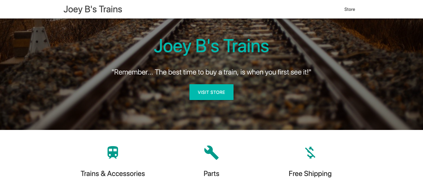 Joey B's Trains